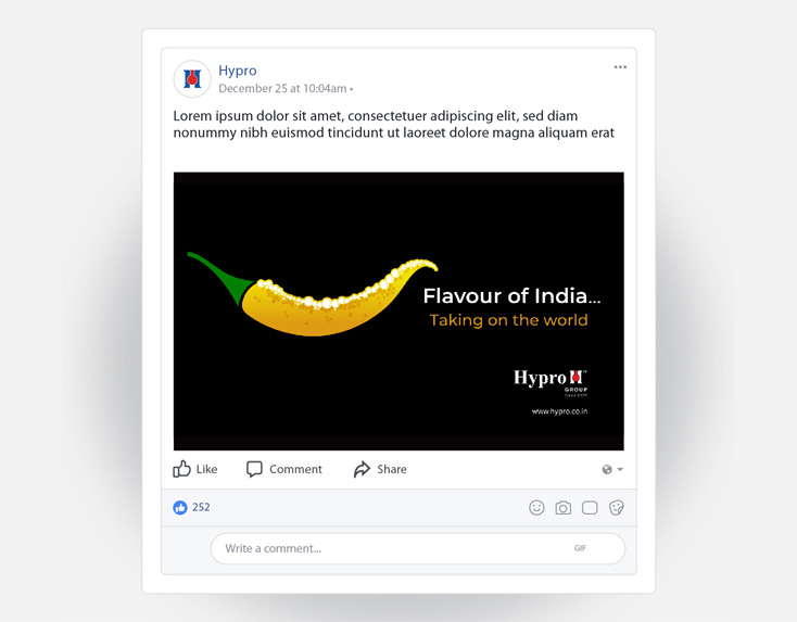 flavour of india facebook post hypro